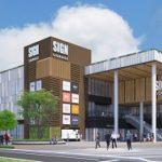 晴海FLAGの商業施設(5-7街区)の建物はほぼ完成していました