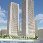 豊海地区の月島ふ頭と豊海運動公園の間に2026年に56階建てのタワーマンションが建設されます