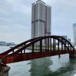 晴海と豊洲の間にある、あの赤く錆びた古い橋(旧晴海鉄道橋)が改修されて使えるようになるそうです。