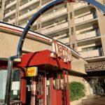 勝どきの「デニーズ」で2021年9月7日から提供開始されたスイーツ「シャインマスカットのザ・サンデー」をいただく